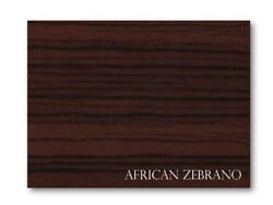 African Zebrano On Black Abs - Boat Instrument Panels 24 X 48 X 3/16