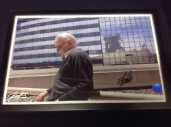 Stan Lee Signed Collectible Photo Poster - Authentic Excelsior Approved Seal