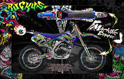1998-2009 Yamaha Yzf250 Yzf450 Ruckus Number Plate And Fender Wrap Decal Kit