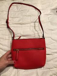 Women's Classic Red Purse NWOT ~ Mixed Bag Designs ~ Small Shoulder Bag