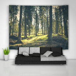 Forest Tapestry Art Wall Hanging Sofa Table Bed Cover Poster