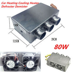 3 Hole 80W 12V Portable Auto Car Heating Cooling Heater Defroster Demister Nice
