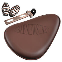 1xUniversal Brown Motor Solo Seat Saddle+ Copper Accessories For Harley Chopper