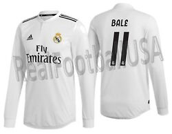 Adidas Gareth Bale Real Madrid Long Sleeve Authentic Match Home Jersey 2018/19