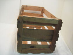 Vintage Wood-wooden Kathy Anne Melons Fruit Melon Crate Box Record Holder