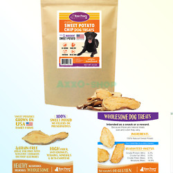 Raw Paws Natural Sweet Potato Dog Treats Chips - Made in USA - Grain