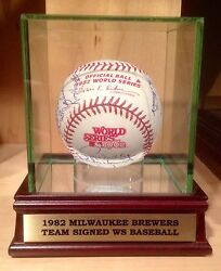 1982 Brewers Team Signed Game Issued Official Mlb World Series Ws Baseball Psa