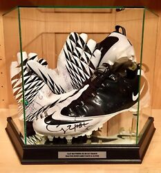 Clay Matthews Sb Xlv Game Practice Worn Used Signed Packers Nfl Football Cleats