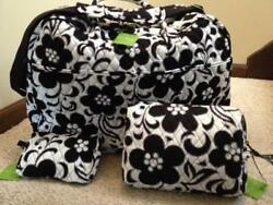 VERA BRADLEY 3 PIECE NIGHT & DAY GRAND TRAVELER SMALL & LARGE COSMETIC BAGS NWT