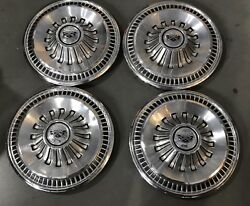 1 Set Vintage Factory Ford Fairlane Hubcaps Wheel Covers 14and039and039 1965-1966 Pn979