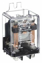 12vdc, 8-pin Flange Mount Relay Flange Location Side Mjn2cf-dc12 5zh73