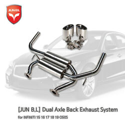 Dual Axle Back Exhaust System for INFINITI 15 16 17 18 19 Q50S