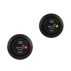 2* Car Seat Heater Switch Universal Round Heated Rocker 3Pin Hi Low Off Control
