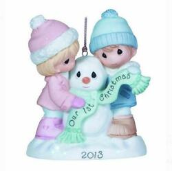 Precious Moments 2013 Our First Christmas Together Porcelain Snowman Ornament
