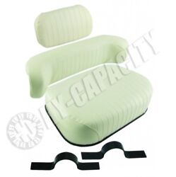 Embossed 3 Pc Oliver Tractor White Wfe 2-62 2-70 2-78 2-85 2-105 2-150 4-78 Seat