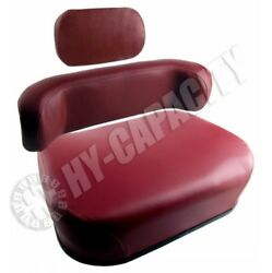 3 Pc Oliver Tractor White Wfe 2-85 2-105 Seat Maroon W/ Upper Back