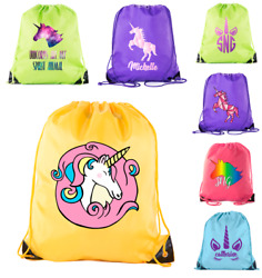 Unicorn Drawstring Bags Colorful unicorn bags for Parties and Gifts $9.99