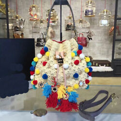 2018 new design Pail bags all knitted handmade perfect high end quality bag