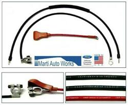 1965 Mustang V8 Battery Cable Set - Marti Auto Works