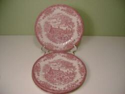 New Churchill The Brook Pink Set Of Four 10 Dinner Plates