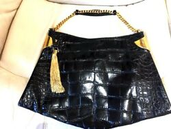 GUCCI CROCODILE 1970 BAG - Retail Price $27000.00 -Excellent Used Condition