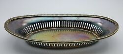 Vintage Palmer House Hotel Chicago Reed And Barton Silver Soldered Oval Tray C1925