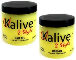 Kalive 2 Style Hair Gel For Men Strong Hold Styling Gels No Flakes 16 Oz 2 Packs