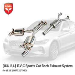 E.v.c Sports Cat Back Exhaust System For 18 19 20 G70 2.0t-gdi [jun B.l]