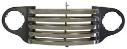 1948 1949 1950 Ford Truck Grill Black And Chrome W/o Park Lights 7c-8204-bc