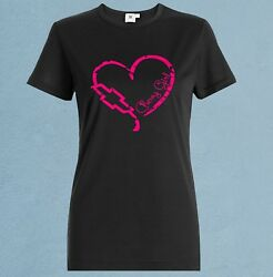 Chevy Girl t shirt black pink womens chevrolet heart tshirt $21.99
