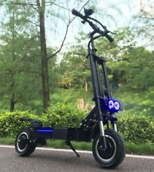 Flj 5600w/60v Two Wheel 11in. Folding Off Road Electric Scooter Fast New