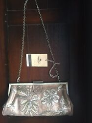 Patricia Nash NWT Bronze Sequin Athenaframe Holiday Evening Bag MSRP 149.00