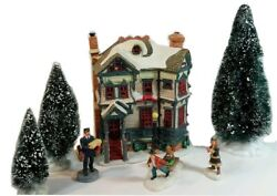 Lemax Gingerbread House Lighted 8 Pc Village 2002 Figure Trees Retired And03906