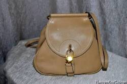 Delvaux Small Purse - Straps converts from Cross-Body to Backpack = Beige