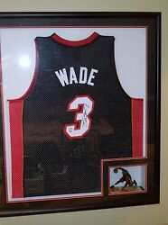 Dwayne Wade, Miami Heat Nba Authentic Jersey In Shadowbox