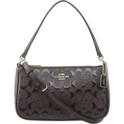 Coach Women's Signature Small Debossed Top Handle Crossbody Bag Style F56518