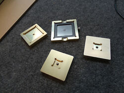 Lot  of 4 Mini Micro Stencils Rework Templates? Python 5 Mil, PCB