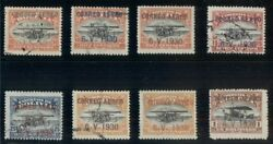 Bolivia C11-18, Complete Zeppelin Set, Mint And Used, C13 Is Signed Bloch