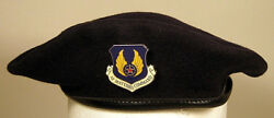Usaf Us Air Force Material Command Security Police Crest Badge Beret