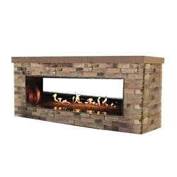 Empire Carol Rose Outdoor Ss See-through 48 Linear Fireplace - Lp