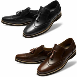 Mooda Mens Leather Loafer Shoes Classic Formal Lace Up Dress Shoes Origin