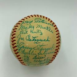 Stunning 1951 Yankees Team Signed Baseball 39 Sigs! Mickey Mantle Rookie PSA DNA