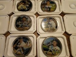 Mickey Mantle Collection Bradford Exchange Plates pewter set lot 6 NY Yankees