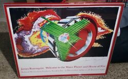 James Rosenquist Welcome To The Water Planet And House Of Fire Framed Signed
