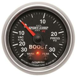 Autometer Sport-comp Ii 52mm 30 In Hg / 30 Psi Electronic Boost/vacuum Gauge - A