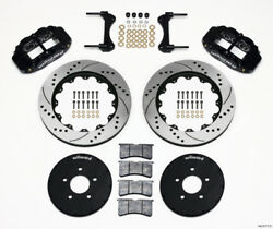Wilwood Narrow Superlite 6r Front Hat Kit 14.00in Drilled For 1994-2004 Mustang