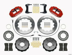 Wilwood Narrow Superlite 6R Front Hat Kit 12.88in Red 2005-Up for Mazda Miata w