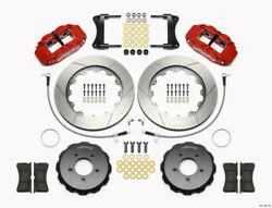 Wilwood Narrow Superlite 6R Front Hat Kit 14.00in Red 2005-Up for Mazda Miata w