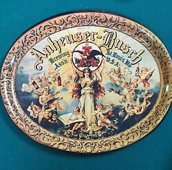 Beautiful Oval Beer Tray From The Anheuser-busch Brewing Assoc-st. Louis