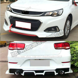 Front rear bumpers Protector Side skirt body kit Fit For Chevrolet Malibu 16-18